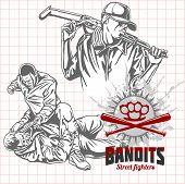 stock photo of hooligans  - Bandits and hooligans  - JPG