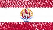 image of french polynesia  - Flag of french polynesia with old texture - JPG