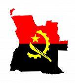 Постер, плакат: Angola Flag Map