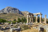 Постер, плакат: Temple Of Apollo In Ancient Corinth Greece
