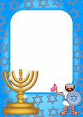 image of hanukkah  - A colorful page border celebrating the jewish festival of Hanukkah - JPG