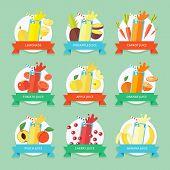 stock photo of fruit shake  - Fruit smoothie collection - JPG