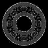 picture of ball bearing  - steel ball roller bearings - JPG