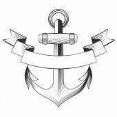 picture of navy anchor  - Anchor icon on a white background - JPG