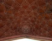 image of cupola  - Decorated underside of the main gate cupola - JPG