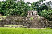 pic of mayan  - Panoramic View of Historic Mayan Site. Traveling Through Chiapas Mexico.