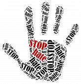 stock photo of stop hate  - Stop hate - JPG