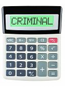 Постер, плакат: Calculator With Criminal