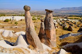 picture of cave-dweller  - Probably the best known feature of Cappadocia - JPG
