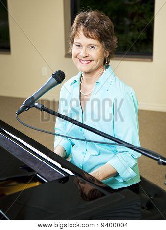 Mature Piano Player