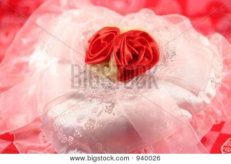 Corazón de San Valentín de Satén