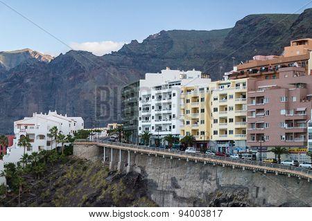 Puerto Santiago Resort Town And Los Gigantes Rocks, Tenerife