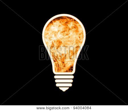 Fire Lamp On A Black Background