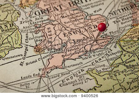 London And England Vintage Map