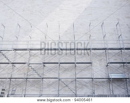 Scaffold with Architecture wall Background