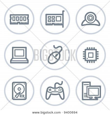 Computer Web Icons, White Circle Series