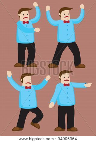 Upset Cartoon Man Vector Illustration