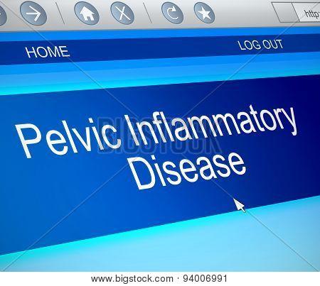 Pelvic Inflammatory Disease Concept.