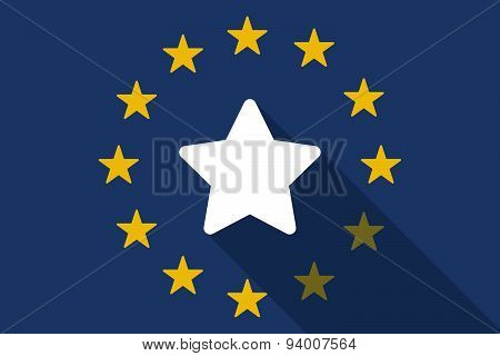 European Union  Long Shadow Flag With A Star