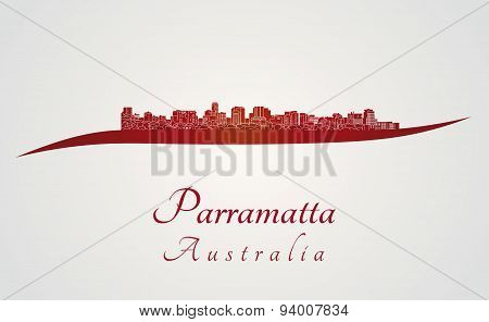 Parramatta Skyline In Red