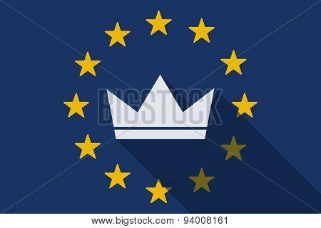 European Union  Long Shadow Flag With A Crown