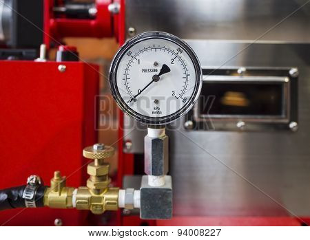 Pressure Gauge Meter Installed, Measuring Tool Equipment