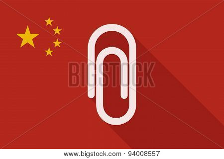 China Long Shadow Flag With A Clip