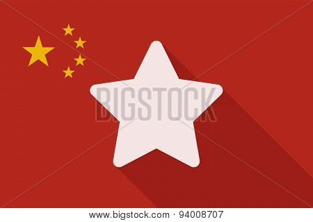 China Long Shadow Flag With A Star