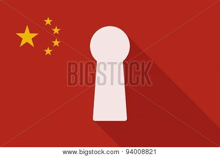 China Long Shadow Flag With A Key