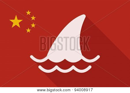 China Long Shadow Flag With A Shark Fin
