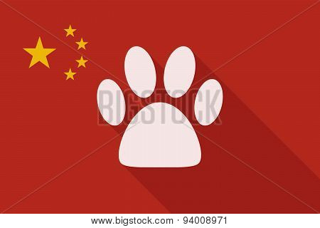 China Long Shadow Flag With An Animal Footprint