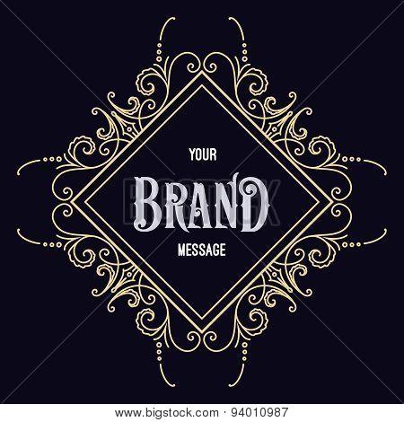Flourishes calligraphic label template.