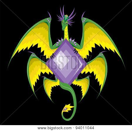Dragon with six wings.