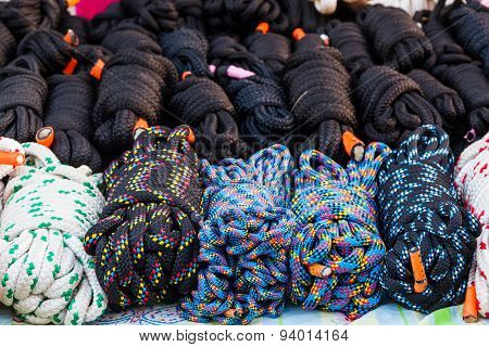 Coiled Nylon Rope.