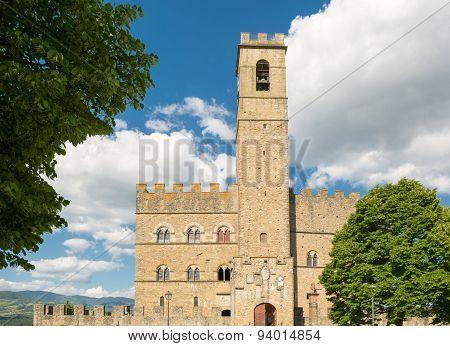 Public Monument Of Poppi Castle In Tuscany