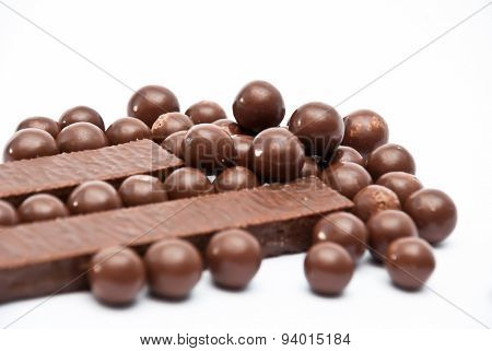 Cereal Chocolate Balls And Bars