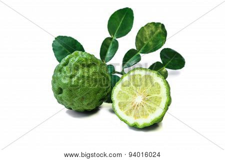 Kaffir lime, citrus fruit.