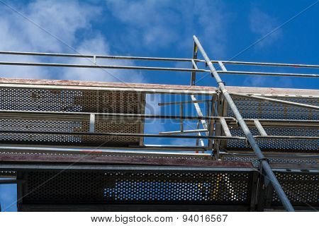 Scaffolding With A View In The Blue Sky