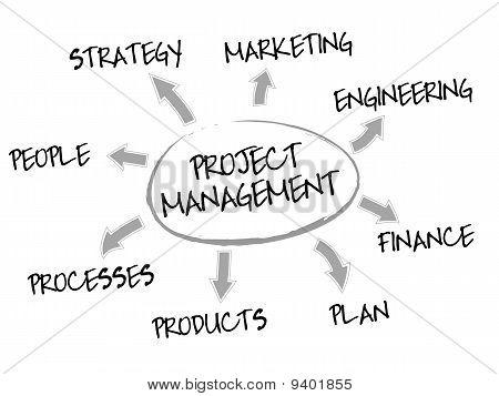 Projekt-Management-Diagramm