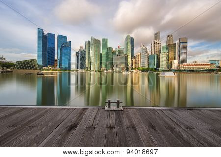 Singapore Skyline and view of Marina Bay