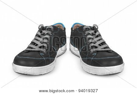 A Pair Of Sports Shoes Isolated On White Background