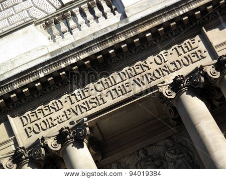 Old Bailey Inscription