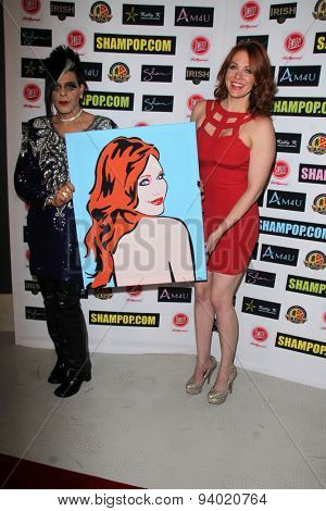 LOS ANGELES - JUN 4:  Sham Ibrahim, Maitland Ward at the Celebrity Selfies Art Show by Sham Ibrahim at the Sweet! Hollywood on June 4, 2015 in Los Angeles, CA