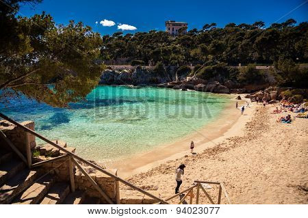 Cala Gat Beach In The Spring
