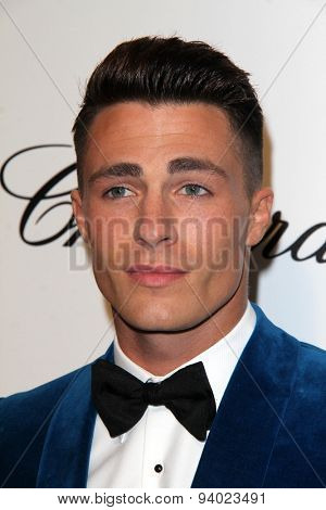 LOS ANGELES - MAR 3:  Colton Haynes at the Elton John AIDS Foundation's Oscar Viewing Party at the West Hollywood Park on March 3, 2014 in West Hollywood, CA