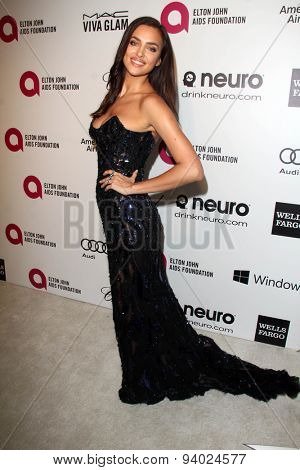 LOS ANGELES - MAR 3:  Irina Shayk at the Elton John AIDS Foundation's Oscar Viewing Party at the West Hollywood Park on March 3, 2014 in West Hollywood, CA