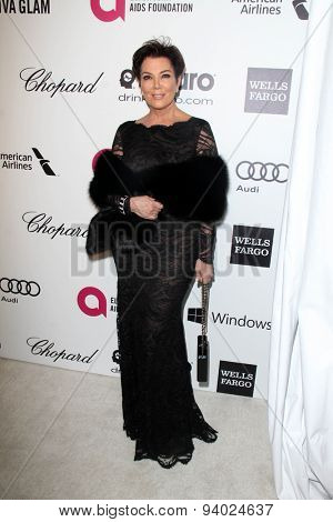 LOS ANGELES - MAR 3:  Kris Jenner at the Elton John AIDS Foundation's Oscar Viewing Party at the West Hollywood Park on March 3, 2014 in West Hollywood, CA
