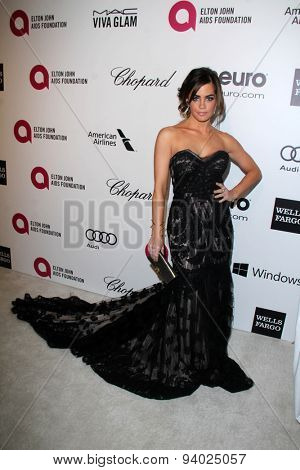 LOS ANGELES - MAR 3:  Jillian Murray at the Elton John AIDS Foundation's Oscar Viewing Party at the West Hollywood Park on March 3, 2014 in West Hollywood, CA