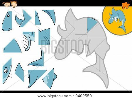 Cartoon Shark Jigsaw Puzzle Game