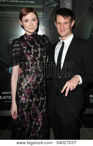 LOS ANGELES - APR 3:  Karen Gillan, Matt Smith at the